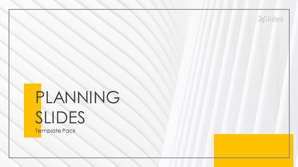 Planning Slides PowerPoint Template Pack cover slide