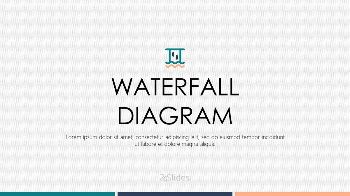 Waterfall Diagram PowerPoint Template cover slide