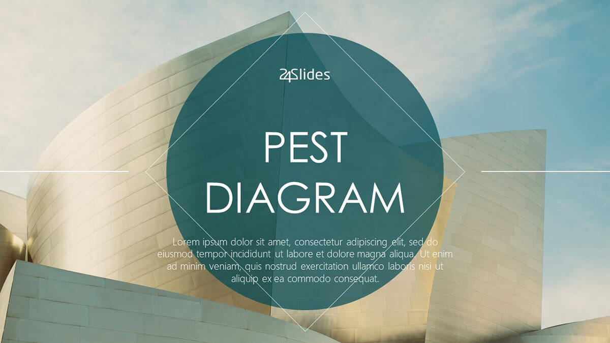PEST Diagram PowerPoint Template cover slide