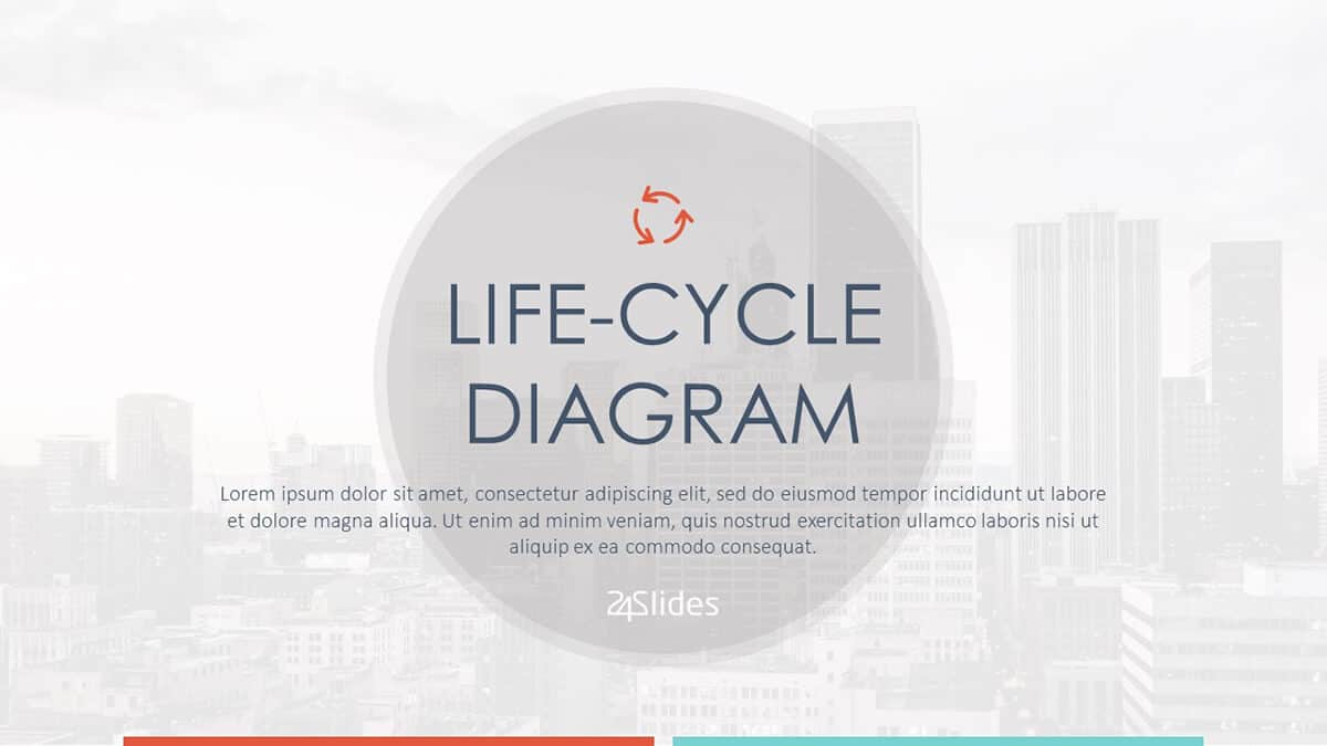 Life-cycle Diagram PowerPoint Template cover slide