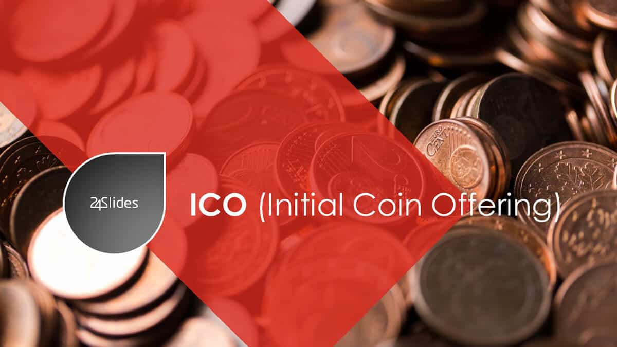 Cover slide ICO (Initial Coin Offering) PowerPoint Template Pack