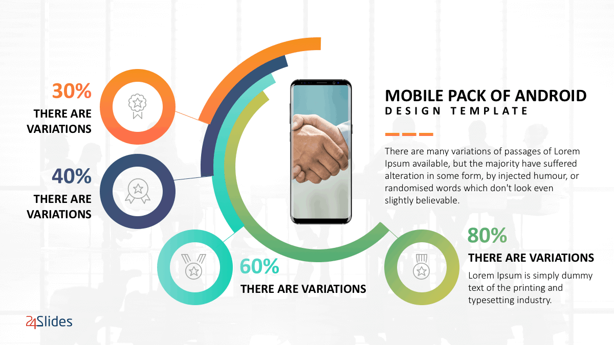 Android Mobile Presentation Template Pack cover slide