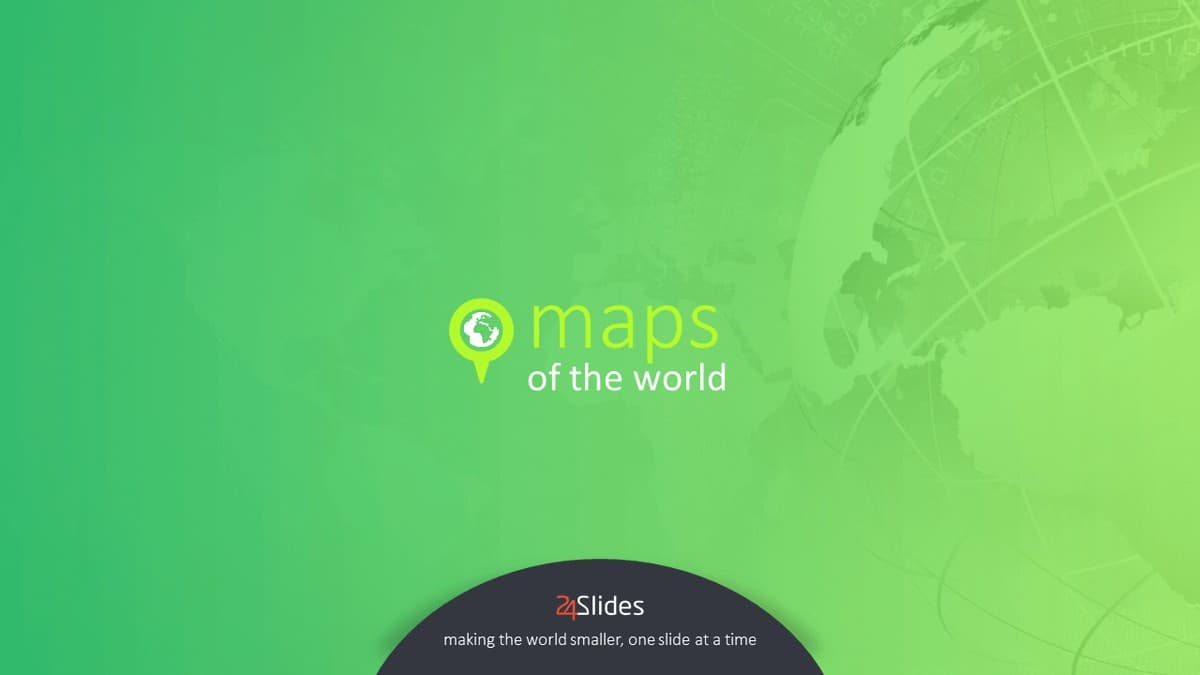 Maps of the World PowerPoint Template cover slide