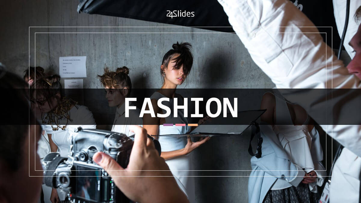 Fashion PowerPoint Template cover slide