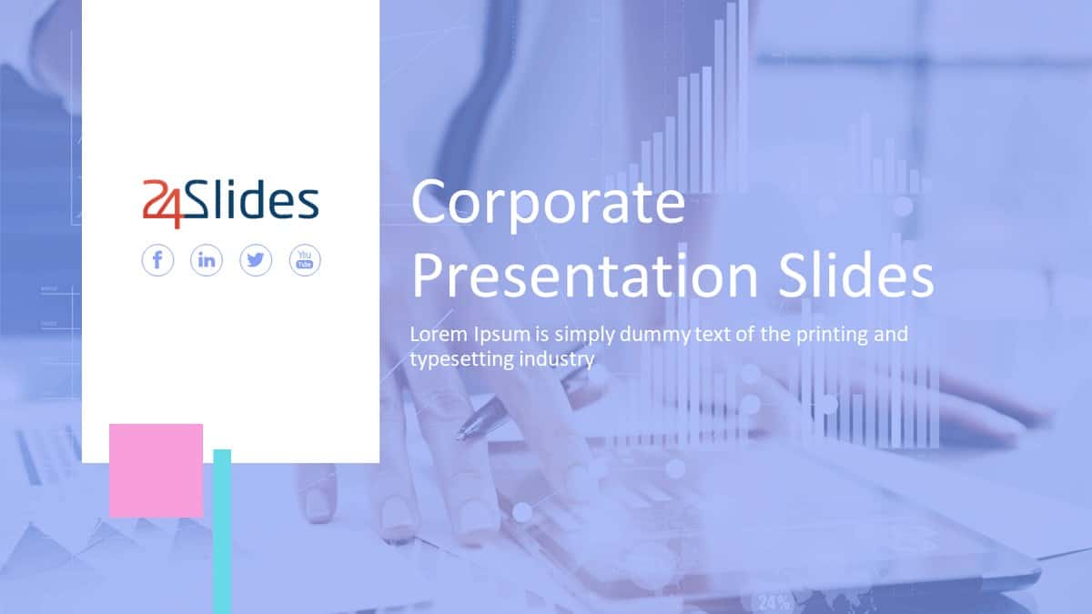 Light Corporate PowerPoint Template Pack cover slide