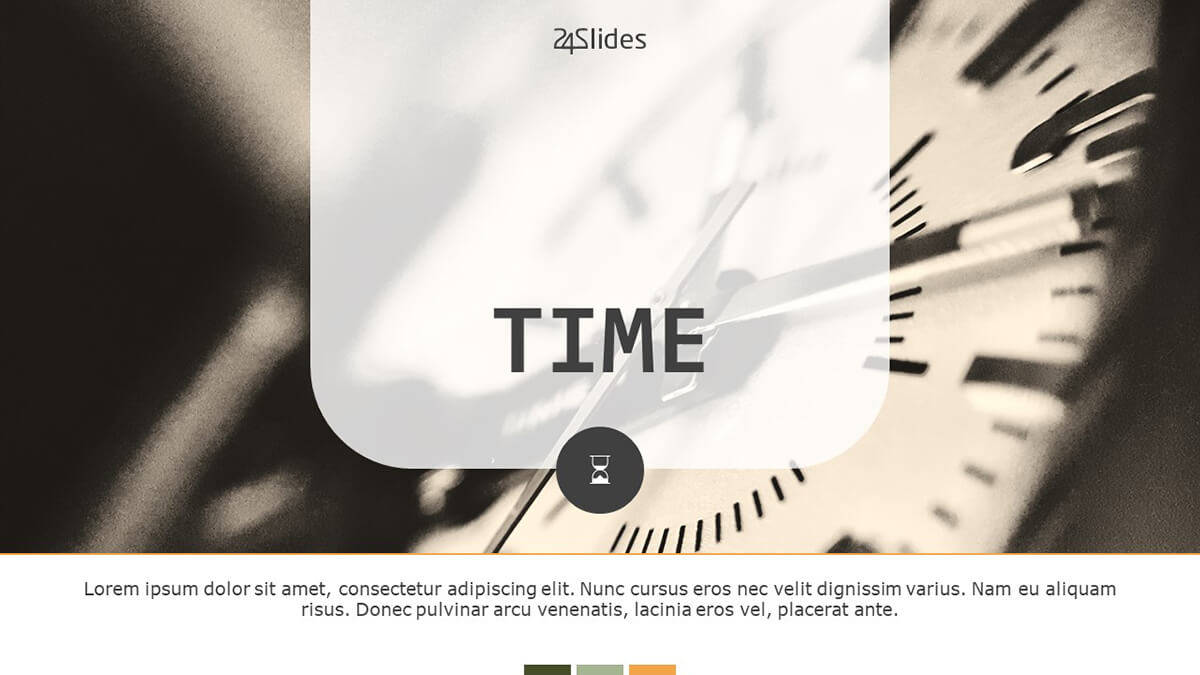 Time Slide Deck PowerPoint Template cover slide