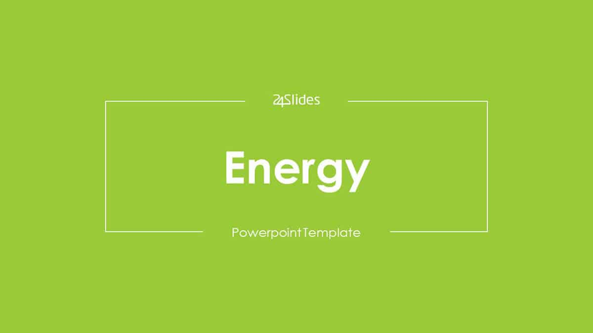 Energy PowerPoint Template cover slide