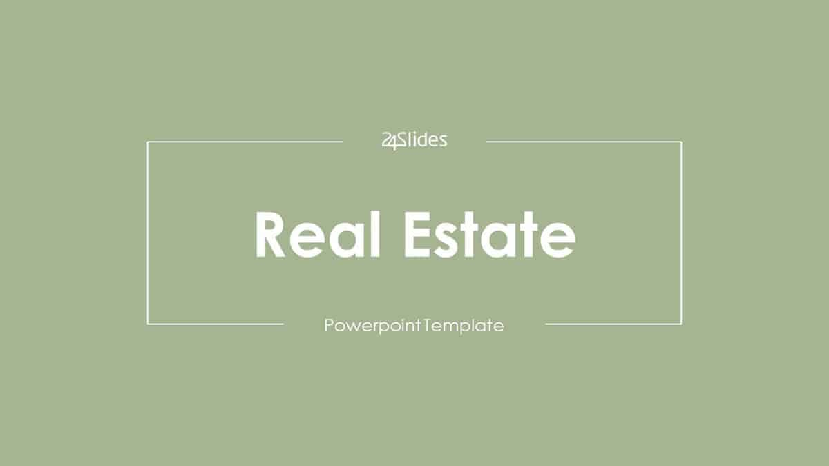 Real Estate PowerPoint Template cover slide