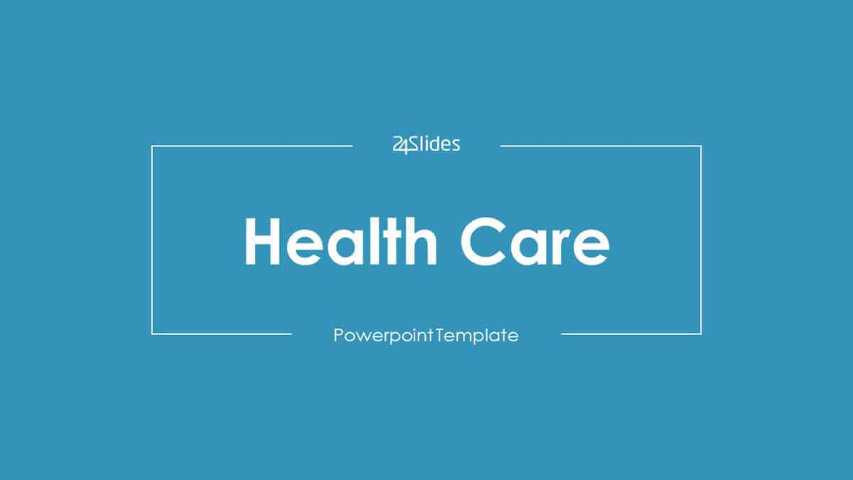 Health Care PowerPoint Template cover slide