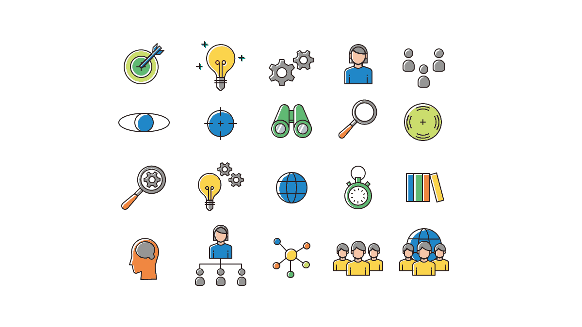 Strategy Presentation Icons cover slide