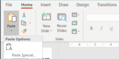 How to work with multiple images in PowerPoint - the different paste options