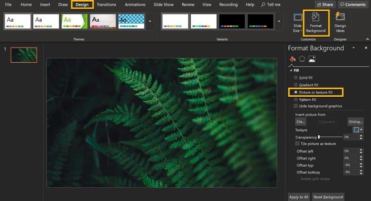 screenshot of slide background image