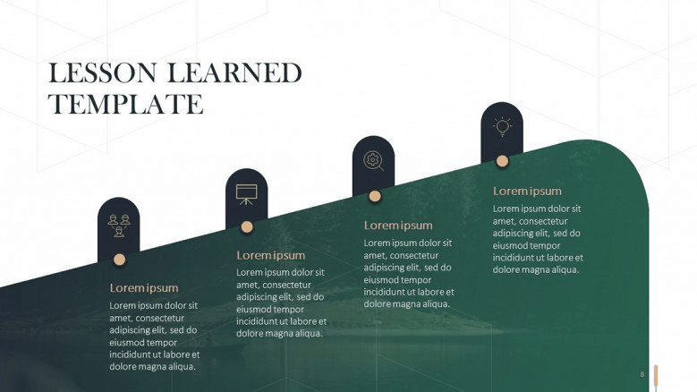 lessons green powerpoint template