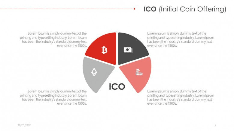 ico initial coin offering free PowerPoint Template