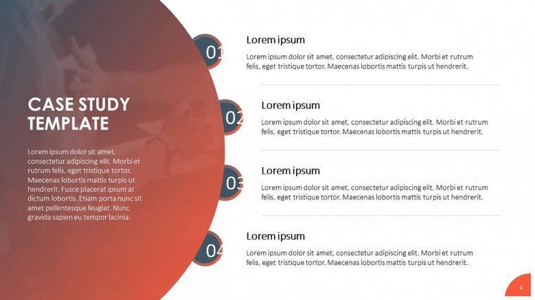 red Business case PowerPoint Template