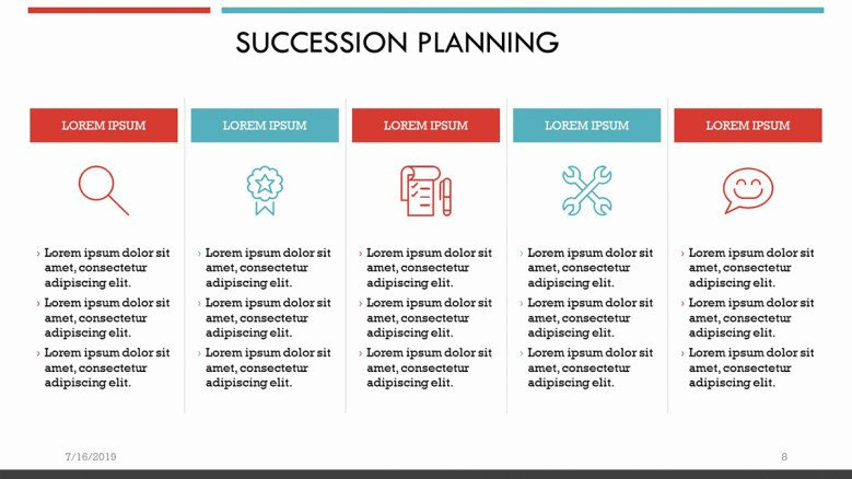 red succession planning PowerPoint Template