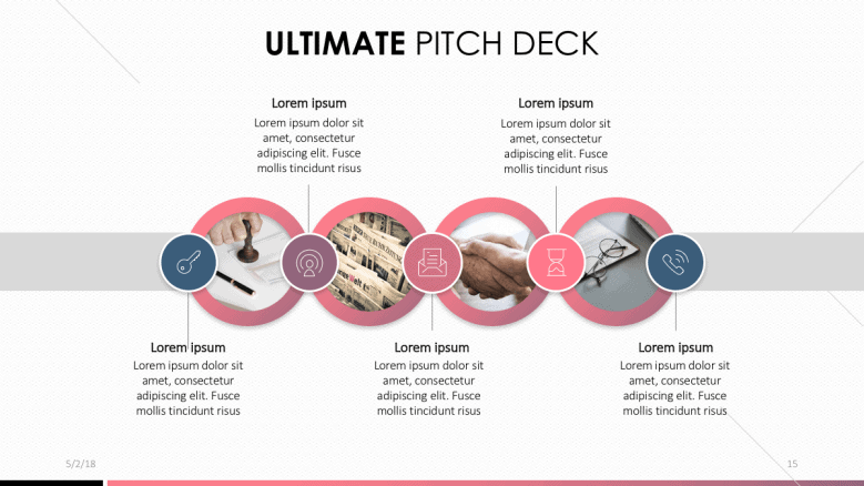 pitch deck pink PowerPoint template