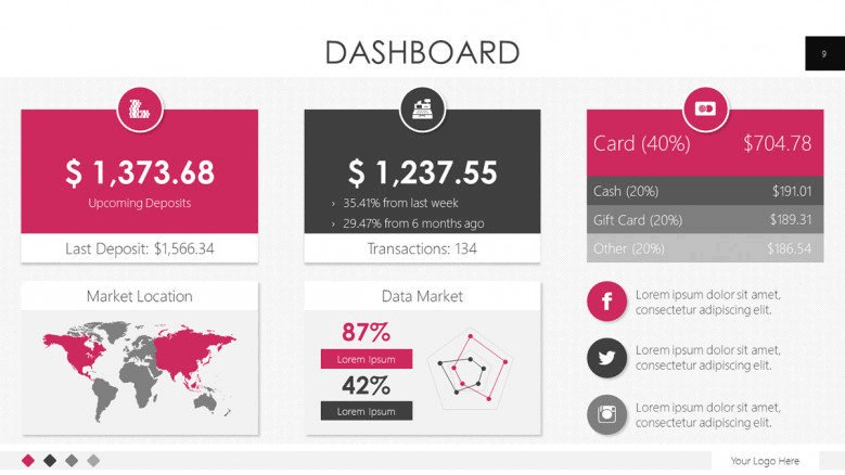 data based pink powerpoint template