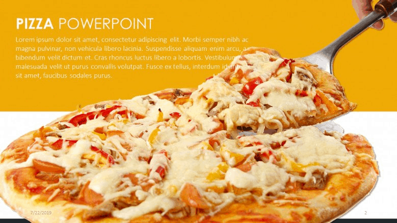 pizza PowerPoint template