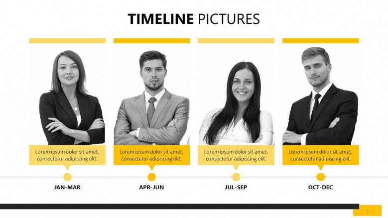 free yellow PowerPoint templates