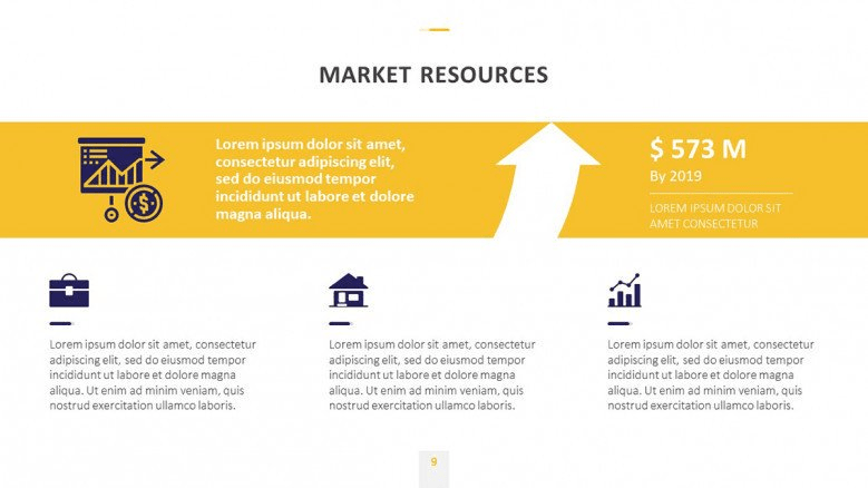 free yellow business PowerPoint templates