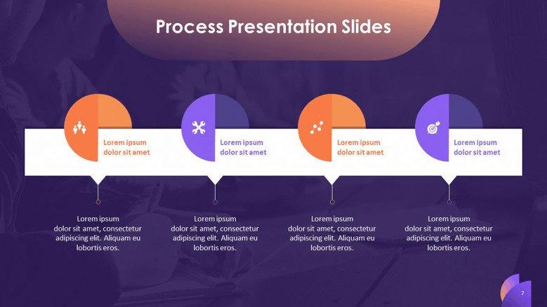purple business PowerPoint template