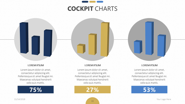 FREE Cockpit Chart Presentation Template PowerPoint Template