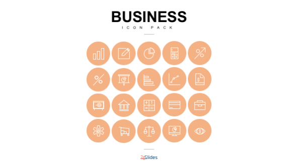 FREE Presentation Business Icons PowerPoint Template