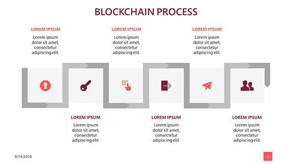 FREE Block Chain Data PowerPoint Template PowerPoint Template