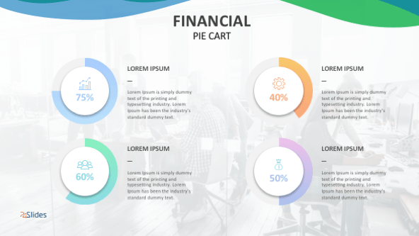 FREE Financial Pie Graphs PowerPoint Templates PowerPoint Template