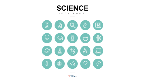 FREE Science Icon Template Pack PowerPoint Template