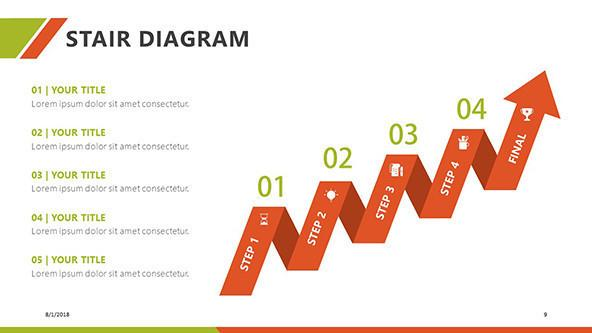 FREE Stair Diagram PowerPoint Template PowerPoint Template