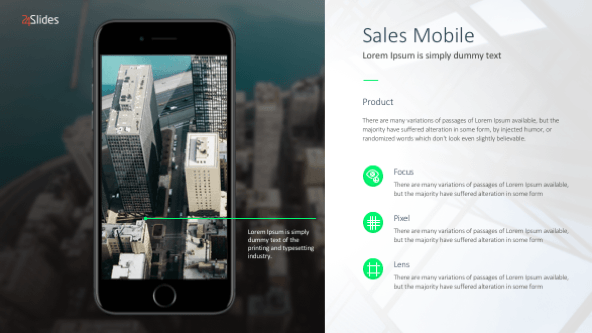 FREE Mobile Sales Slides Template PowerPoint Template