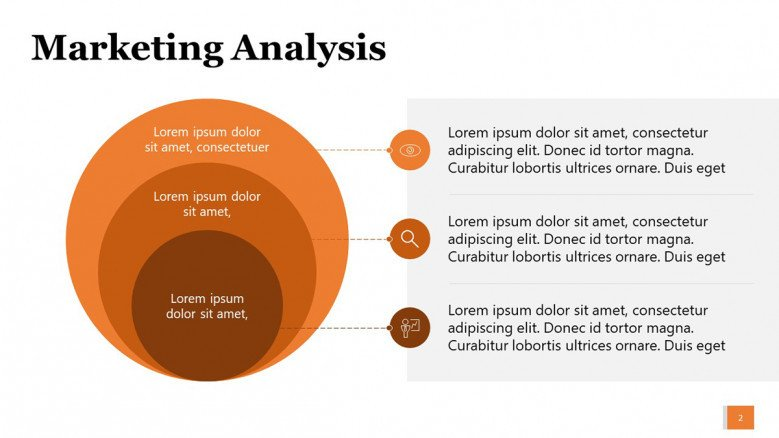 Three Product Level Diagram in PowerPoint