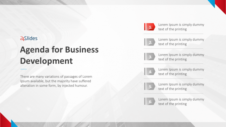 Text Slide for Business Development