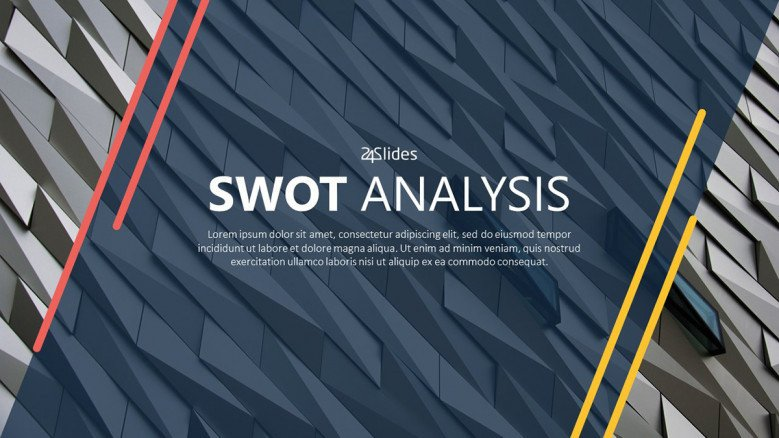 SWOT analysis title slide