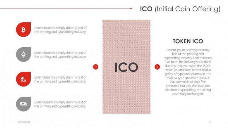 ICO with four key points and text