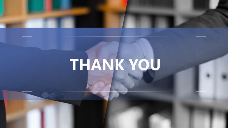 Business thank you slide