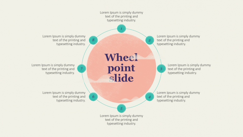 wheel point slide with 8 section text