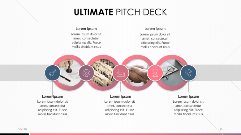 Product hunt pitch deck template free powerpoint templates a 4 stepped diagram with insertable images flashek Image collections
