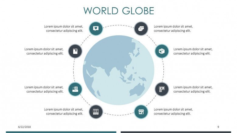 world globe in cycle