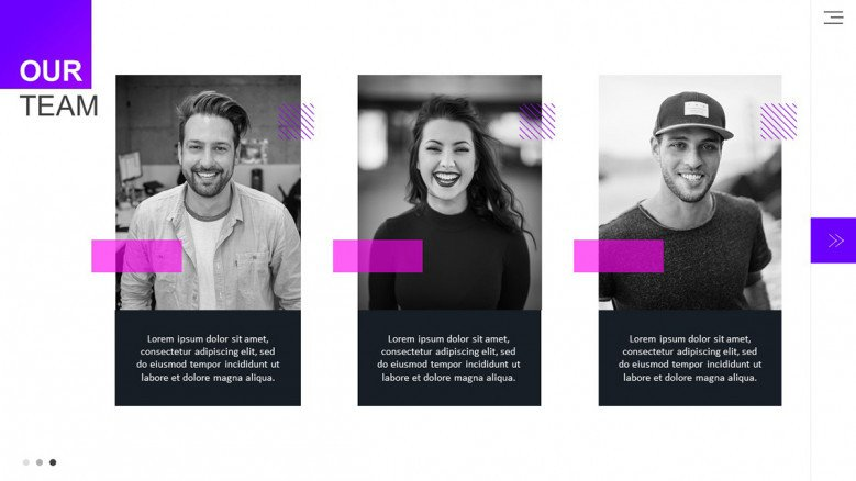 Meet the Team Slide with images for a Pitchbook presentation