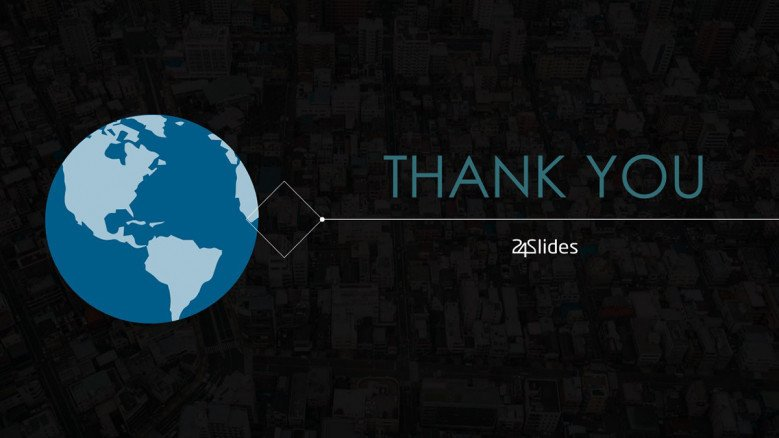 thank you slide for world globe presentation