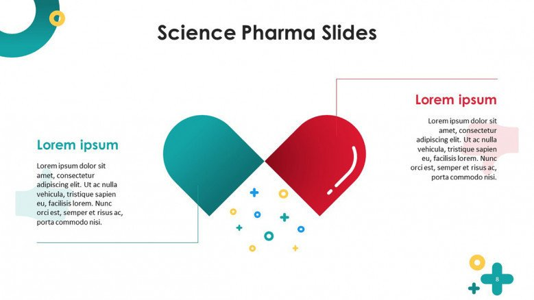 science pharmaceutical key factors overview summary in text with medicine illustration