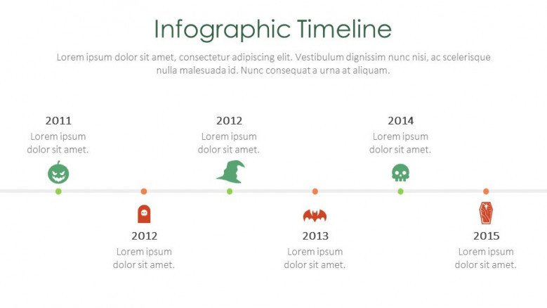 infographic timeline creative slide for halloween theme presentation