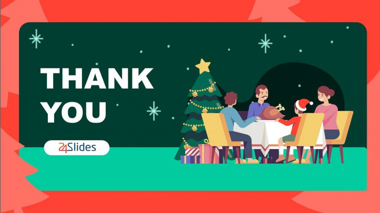 Christmas PowerPoint Background as a Thank You Slide