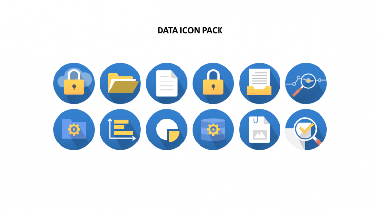 Circle background data icons