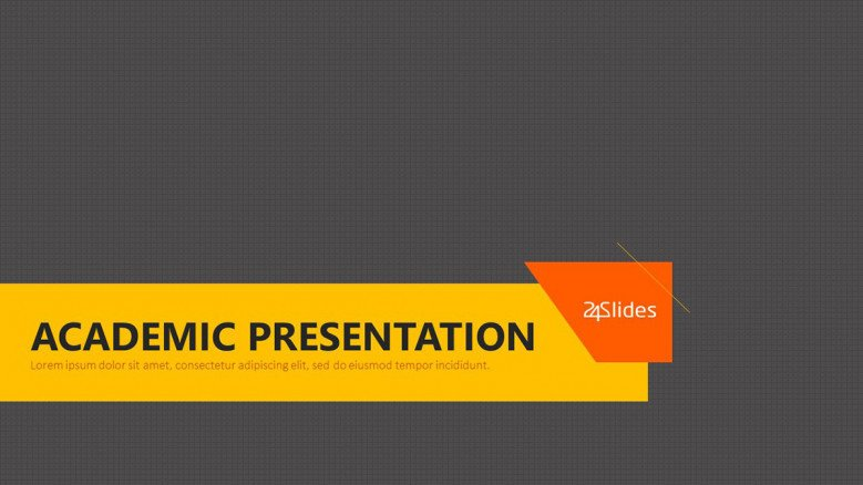 Academic presentation free powerpoint template welcome academic presentation slide toneelgroepblik Choice Image