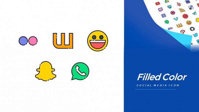 Free Vector icons of Millennial Social Media Apps