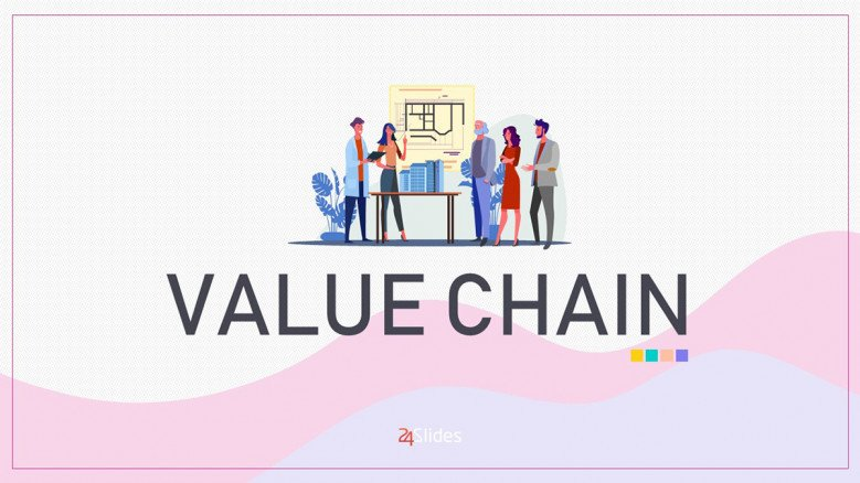Value Chain Analysis PowerPoint Template in playful style